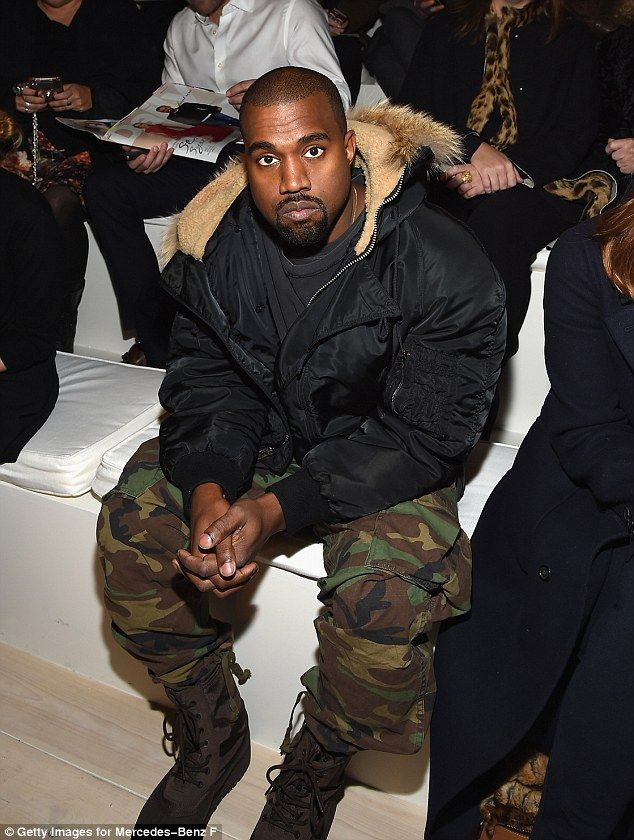 Getting his word in: Kanye West has waded into the feud between his sisters-in-law and his...