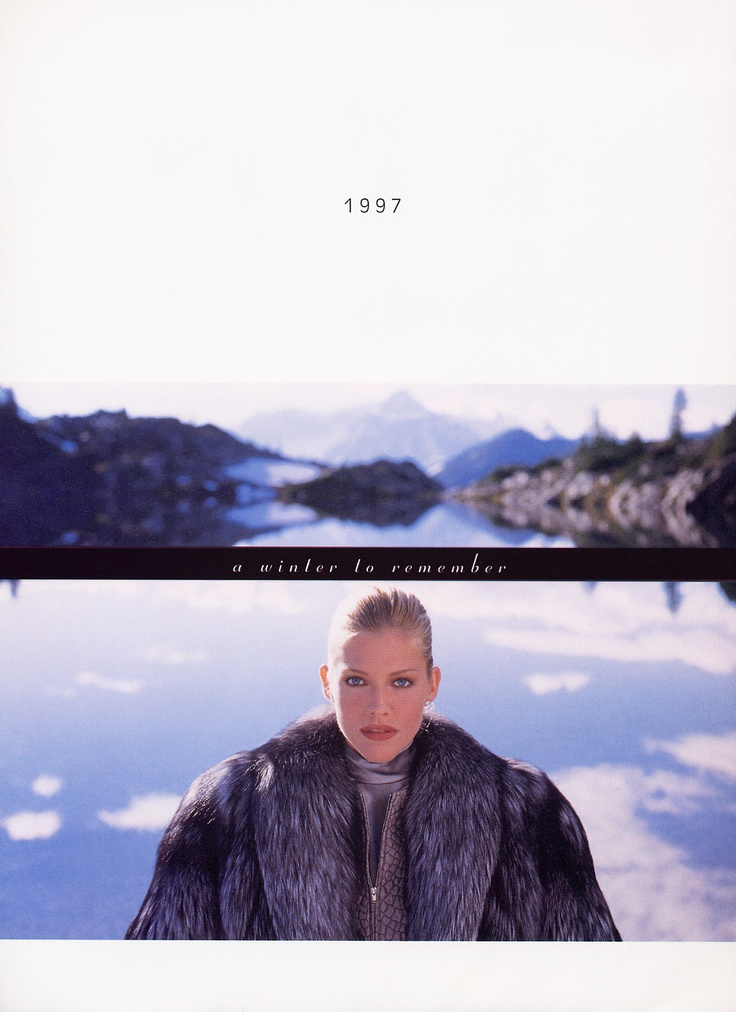 Tricia Helfer for Saga furs 1997
