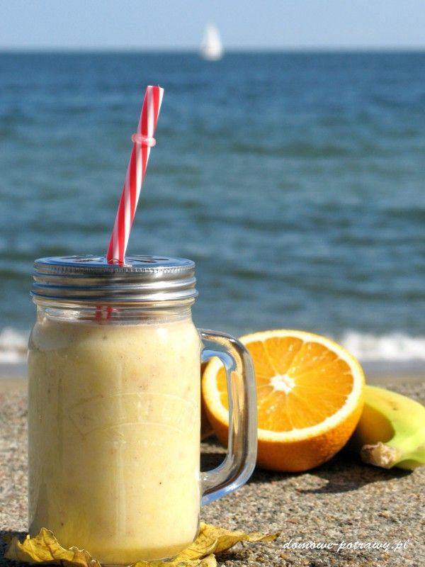 Koktajl bananowo-pomarańczowy | Domowe Potrawy