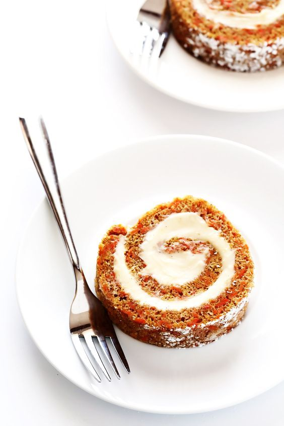 Everything you love about carrot cake...rolled up into this easy Carrot Cake Roll dessert!!  So easy to make, and so delicious! | gimmesomeoven.com