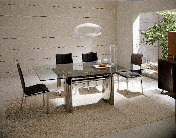 63 best Modern Dining Table images on Pinterest  : 9c449af4c97201e8012d3afd2f3cc9f6 glass top dining table dining table design from www.pinterest.com size 736 x 580 jpeg 86kB