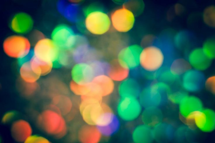 Myriad. Abstract bokeh photography in red blue green and yellow by Jan Bickerton at PurePhoto.com.  #bokeh