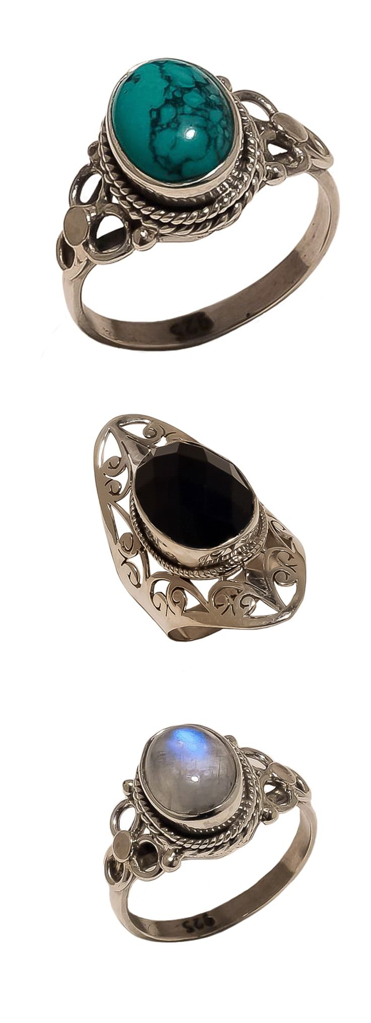 Shop witchy gypsy rings at RebelsMarket!