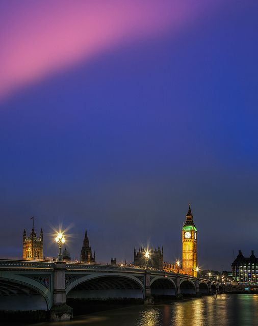 Big Ben and the Westminster Bridge, London