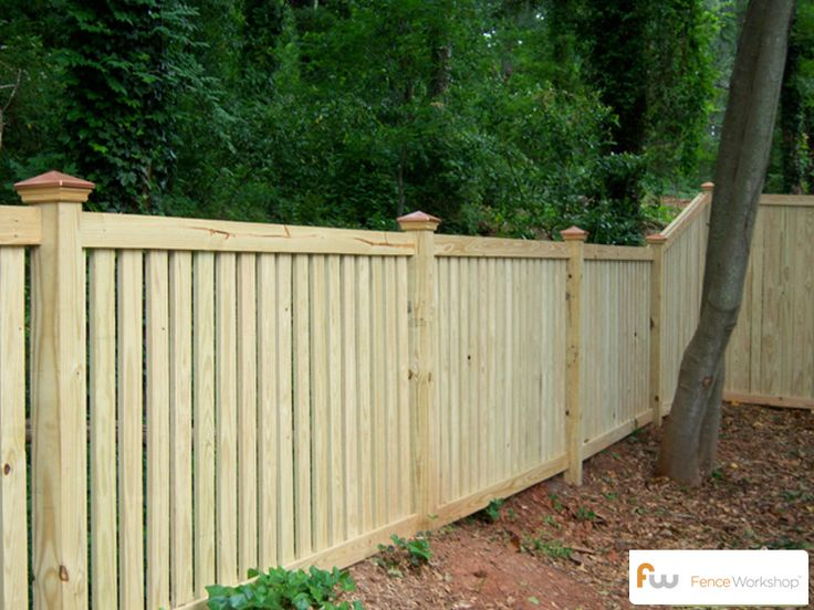 The Chase ™ Custom Wood Picket Fence | Pictures & Per Foot Pricing