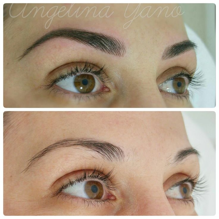 401 best microblading hair stroke feather stroke or 3d for Semi permanent tattoo eyebrows