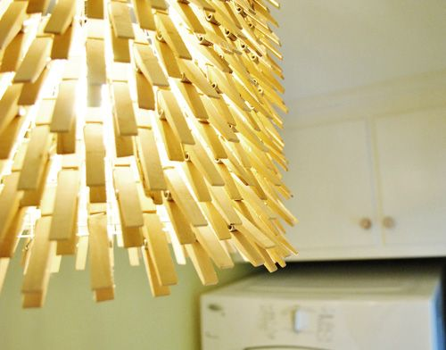 clothes pin chandelier