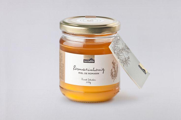 Packaging Design Label Rosmarinhonig nectaflor Honigspezialitäten