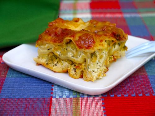 Crock Pot Veggie Lasagna on Weelicious