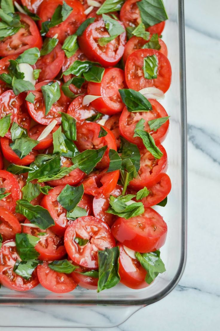 Slow Roasted Tomatoes And Parmesan Basil Breadcrumbs