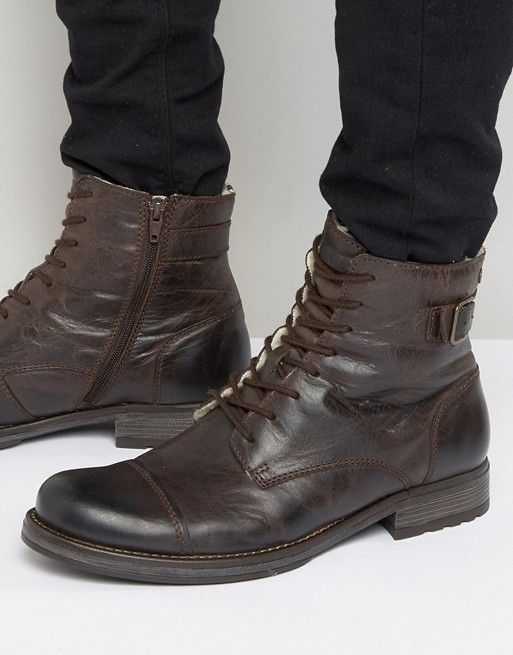 Jack & Jones | Jack & Jones Siti Warm Lining Leather Boots