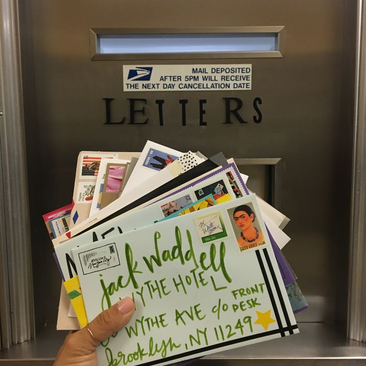 Outgoing mail from a meeting of the NYC Letter Writers Society