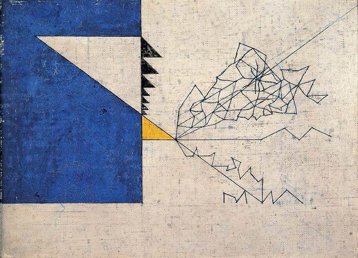 Osvaldo Licini, Drago, 1933, olio su tela, cm 31 x 23, Collezione privata, courtesy Lorenzelli Arte, Milano.