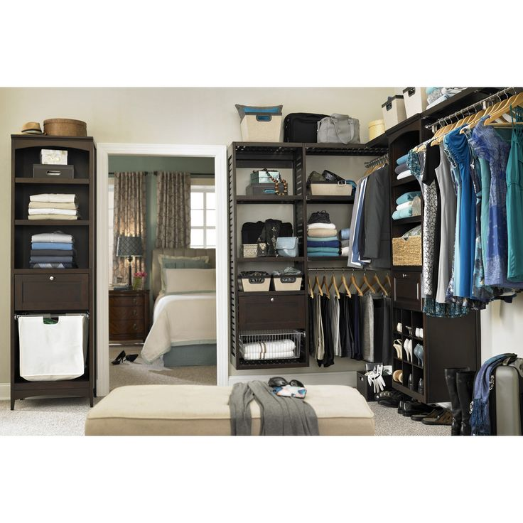 shop java wood closet tower allen roth kit 76 in shelves