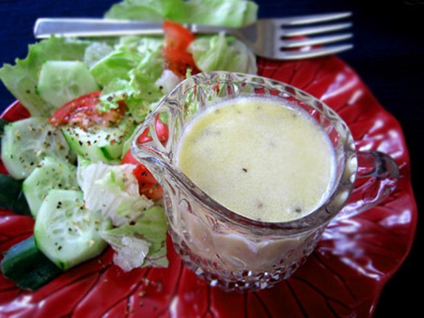 A copycat of Olive Gardens salad dressing developed by Food Network Kitchens.