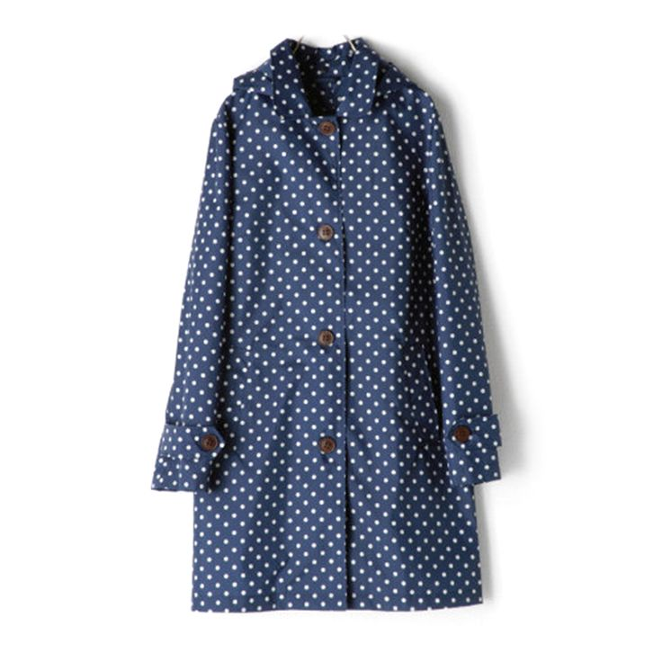 Opentip.com: TopTie Fashion Hooded Raincoat With Dots Cute Rain Jacket For Lady Girl Women