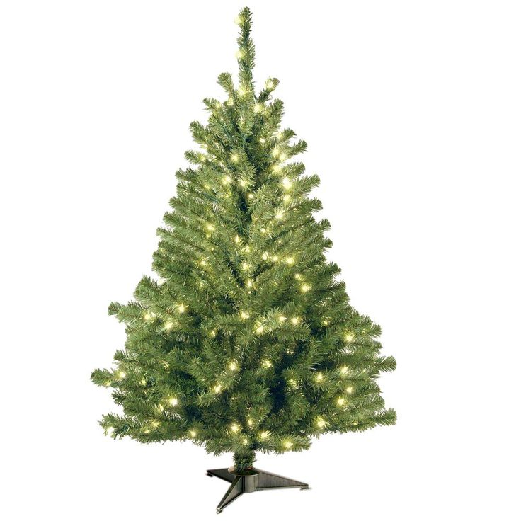 Unique National Tree Company ft Kincaid Spruce Artificial Christmas Tree with Clear Lights