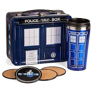 ThinkGeek :: Doctor Who Special Edition Lunch Box with Coasters & Thermos