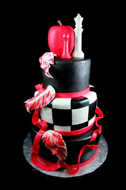 That's a pretty cake, even if it is Twilight themed