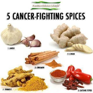 Garlic, ginger, cinnamon, tumeric, cayanne pepper