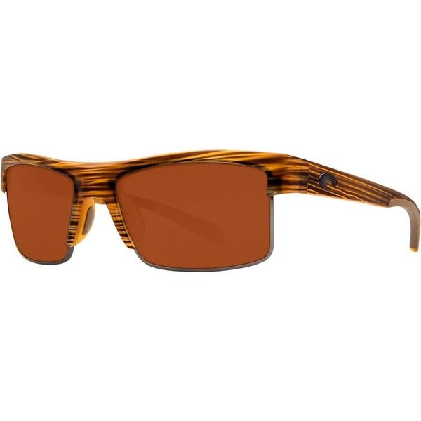 Costa South Sea 580G Sunglasses - Polarized ($259) ❤ liked on Polyvore featuring accessories, eyewear, sunglasses, costa sunglasses, costa glasses, costa eyewear, vintage style glasses and nose pads glasses