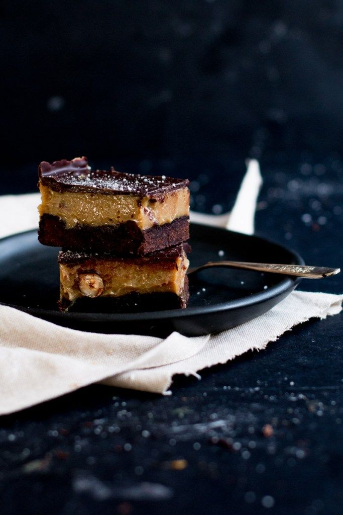 Chocolate, Hazelnut & Espresso Caramel Slice | The Brick Kitchen