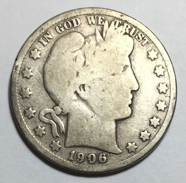 90% Silver 1906-S Barber Half Dollar. Take a LOOK!