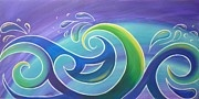 Kiwiana Art - Koru Surf by Reina Cottier