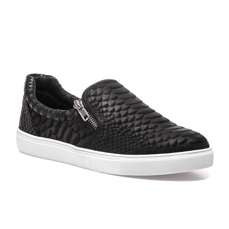 ZIPSTER Black Snake Sneaker - $130.00