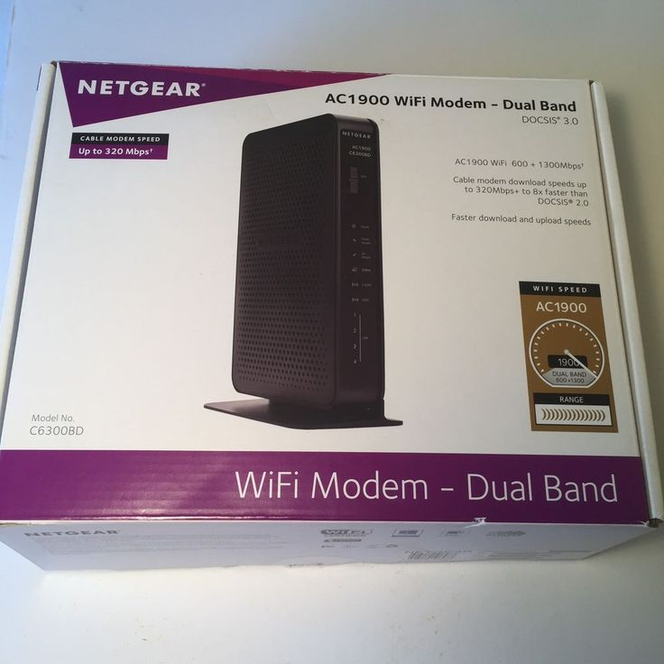 Netgear AC1900 C6300BD Dual Band Wireless WiFi Cable Modem Router Gigabit Port  | eBay