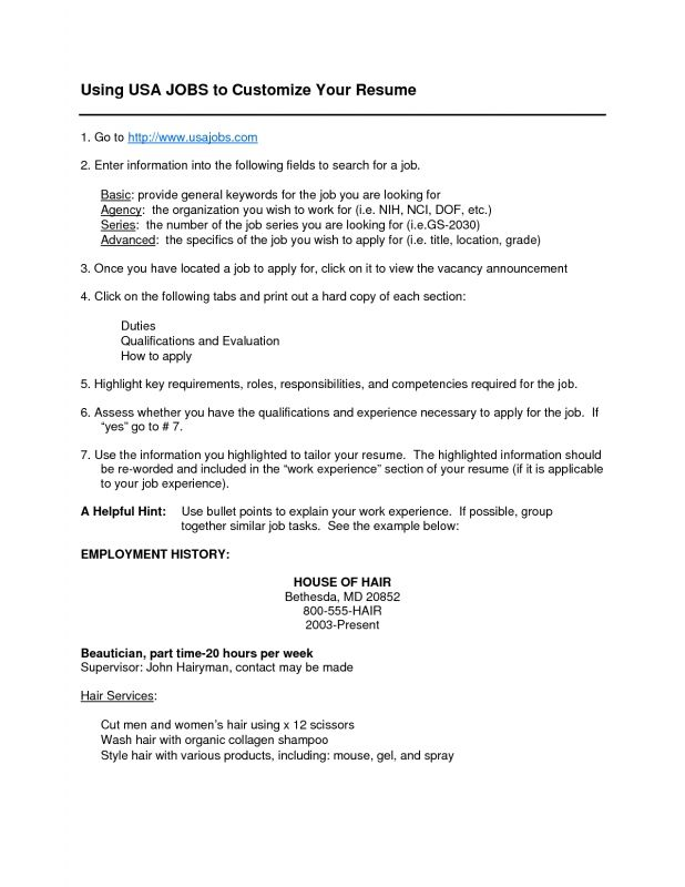 Usa Jobs Resume Format  Resume Format And Resume Maker