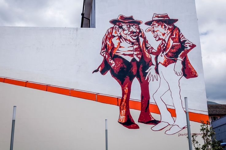 Ecuador has great street art, including this piece by Luigi Stornaiolo in Quito | Travel Addicts