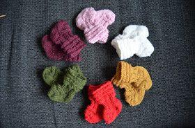 Vastasyntyneen vauvan villasukat (ohje)