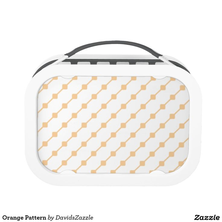 Orange Pattern Lunch Box Available on many more products! Type in the name of this design in the search bar on my Zazzle products page!   #abstract #art #pattern #design #color #accessory #accent #zazzle #buy #sale #kitchen #dining #home #decor #entertain #serving #guest #food #foodie #apartment #dorm #student #accent #living #modern #chic #contemporary #style #life #lifestyle #minimal #simple #plain #minimalism #square #line #white #orange
