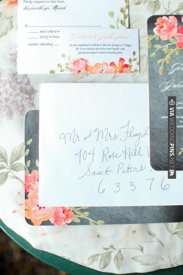 wedding stationery   VIA #WEDDINGPINS.NET