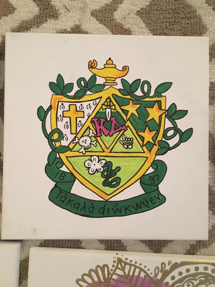 KD kappa delta sorority crest canvas