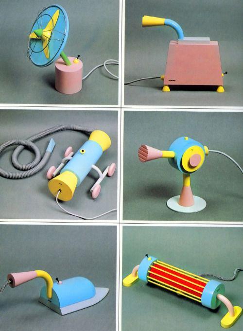 """Appliances"" prototype wooden designs by Michele de Lucchi for the '79 Salone d'Mobile."