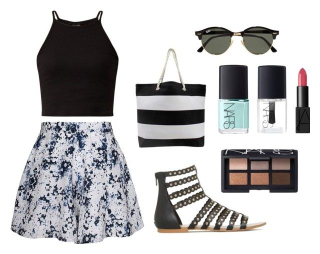 """""""Summer"""" by alexxshaw45 ❤ liked on Polyvore featuring Olive + Oak, NARS Cosmetics and Ray-Ban"""