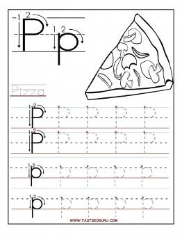 free printable letter p tracing worksheets for preschool free learning upper and lowercase. Black Bedroom Furniture Sets. Home Design Ideas