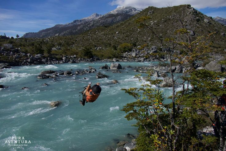 Thrilling zip line along Chile's Southern Highway #CarreteraAustral