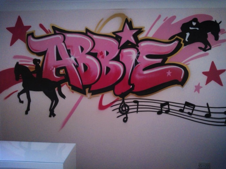 The 25 best graffiti bedroom ideas on pinterest for Mural lettering