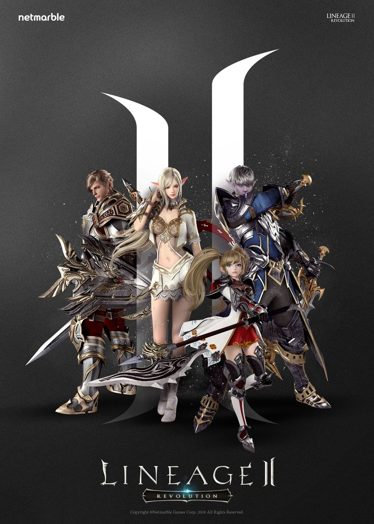 [2016] Poster : 리니지2 : 레볼루션 Designer: YewonKim Copyright ⓒ netmarble games corp. Allright Reserved. #promotion #game #lineage2 #리니지2 #poster