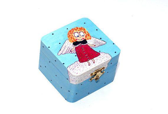 PAINTED BOX Jewelry gift box Hand painted wooden box by artbyasta
