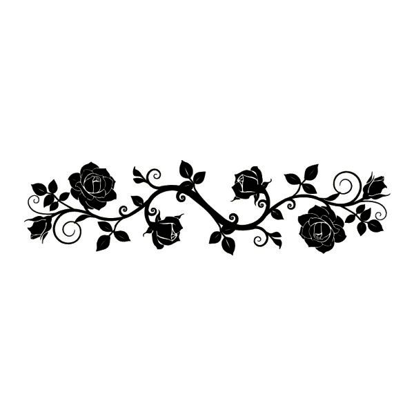 tattoo / silhouette roses | templates and stencils for ...