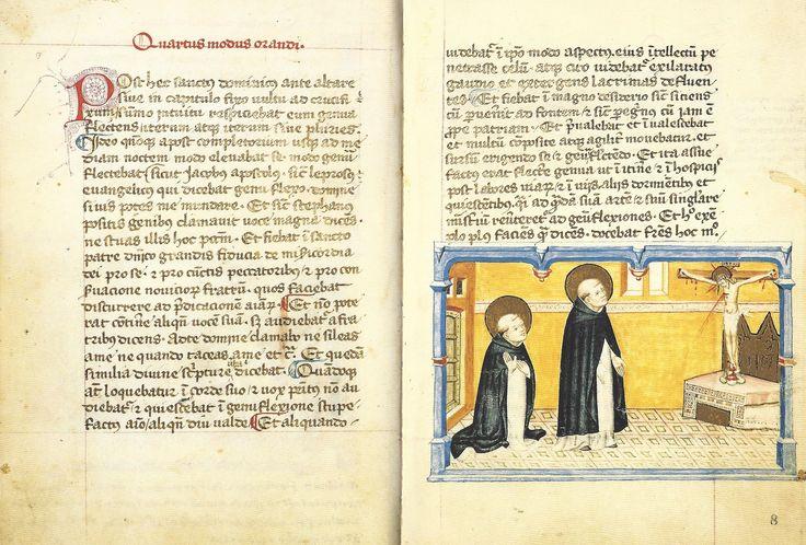 Modi Orandi Sancti Dominici, 4 : la génuflexion, codex rossianus 3, 1450, bibliothèque vaticane,