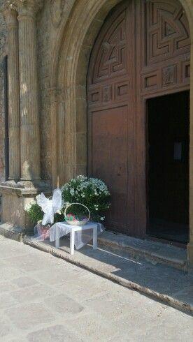 Decoración entrada iglesia