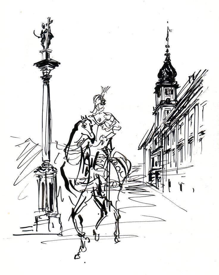 Plac Zamkowy z książki Antoni Uniechowski o sobie i o innych 1960