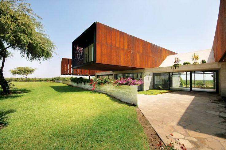 25 best ideas about corten steel on pinterest corten steel planters laser cut steel and - Modern architectural trio ...