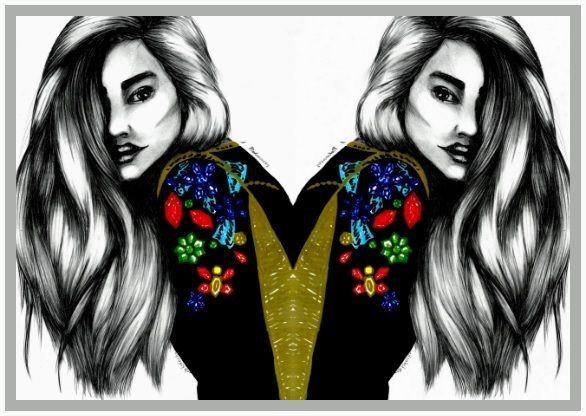 fashion illustration by Anna Piotrowicz www.littlecupofart.pl
