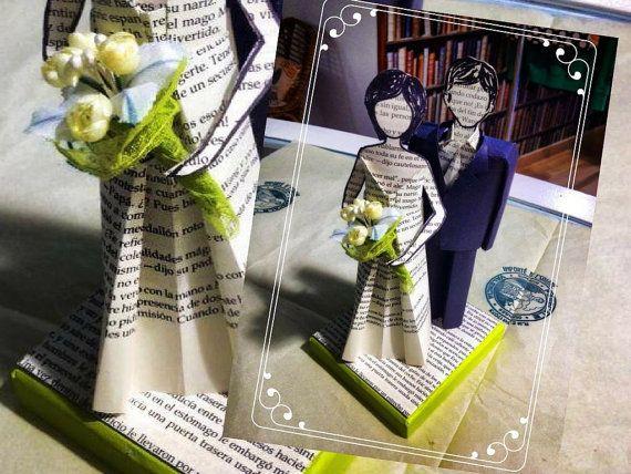 Novios personalizados para tarta de boda figuras de novios - Creaciones de Marielle JL